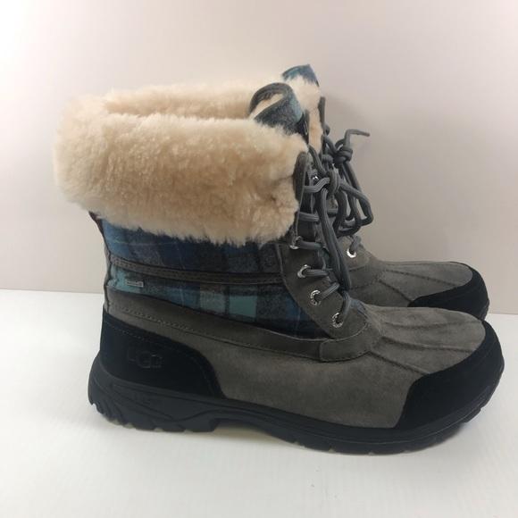 66f280ea131 UGG Butte Blue Surf Plaid Men's Winter Boot